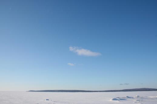 cloud over little traverse bay